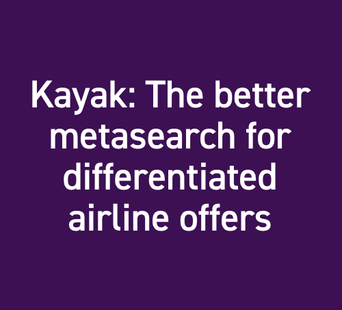 Kayak: The Better Metasearch